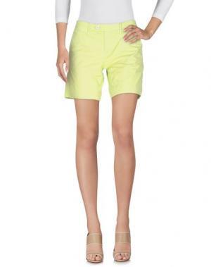Повседневные шорты OAKS. Цвет: кислотно-зеленый