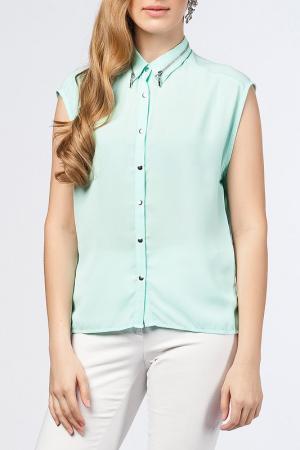 Блуза Dilvin. Цвет: зеленый
