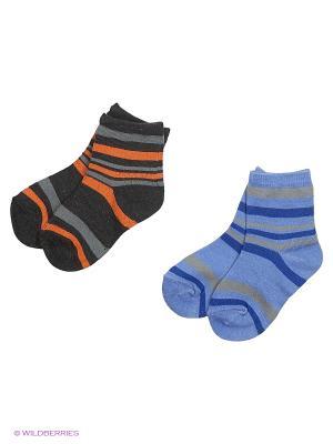 Носки комплект, 2 пары HOBBY LINE. Цвет: серый, голубой