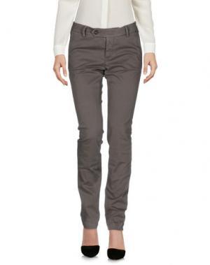 Повседневные брюки ROŸ ROGER'S. Цвет: голубиный серый