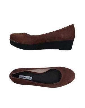 Туфли EMANUÉLLE VEE. Цвет: коричневый