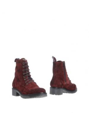 Полусапоги и высокие ботинки D'ACQUASPARTA. Цвет: красно-коричневый