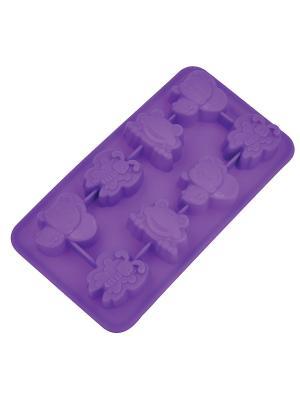 Форма для льда Regent inox. Цвет: фиолетовый
