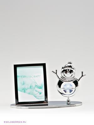 Фоторамка Снеговик CRYSTOCRAFT. Цвет: серебристый