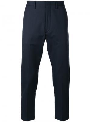 Укороченные брюки строгого кроя Pence. Цвет: синий