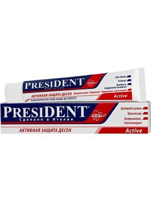 Зубная паста Active , 75мл PresiDent. Цвет: белый, красный, синий