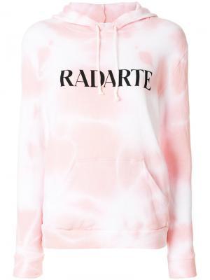 Толстовка Radarte с капюшоном Rodarte. Цвет: розовый и фиолетовый
