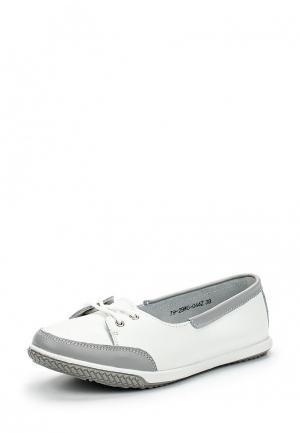 Балетки Zenden Comfort. Цвет: белый