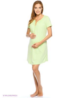 Ночная сорочка для беременных и кормящих FEST. Цвет: светло-зеленый