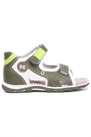 Туфли открытые дошкольные MILTON. Цвет: хаки