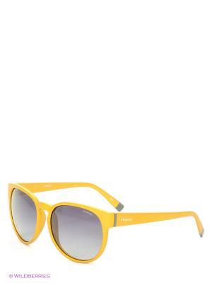 Солнцезащитные очки Polaroid. Цвет: желтый, серый