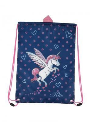 Сумка для обуви  Unicorn. Kite. Цвет: синий, белый, розовый