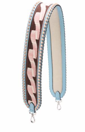 Ремень для сумки с заклепками Fendi. Цвет: голубой