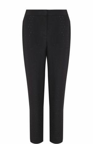 Шелковые брюки прямого кроя Escada. Цвет: черный