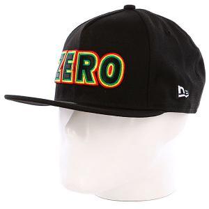 Бейсболка New Era  Rasta Bold Black Zero. Цвет: черный