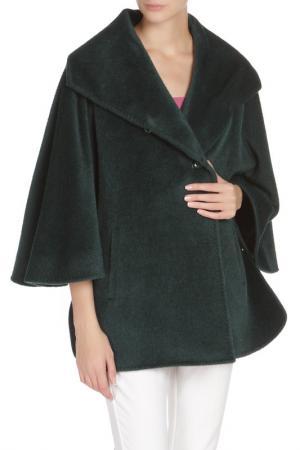 Свободное пальто с застежкой на пуговицы Cinzia Rocca. Цвет: зеленый