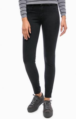 Зауженные черные брюки Kocca. Цвет: черный