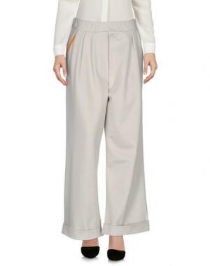 Повседневные брюки DV Roma. Цвет: светло-серый