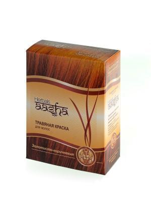 Краска для волос травяная Бургунд, 60 г Aasha Herbals. Цвет: красный