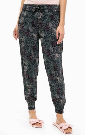 Домашние брюки с манжетами Jockey. Цвет: серый