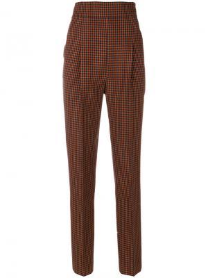 Зауженные твидовые брюки Philosophy Di Lorenzo Serafini. Цвет: жёлтый и оранжевый