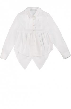 Блуза с удлиненной спинкой I Pinco Pallino. Цвет: белый