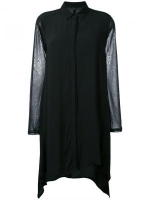 Асимметричная рубашка Demoo Parkchoonmoo. Цвет: чёрный