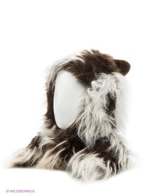 Шапка True Fur. Цвет: коричневый, белый