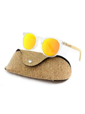 Модные солнцезащитные очки Lumo. Цвет: светло-оранжевый