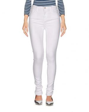 Джинсовые брюки EDWIN. Цвет: белый