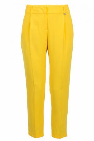Прямые брюки с карманами Ice Iceberg. Цвет: желтый