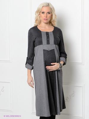 Платье Livaa. Цвет: темно-серый