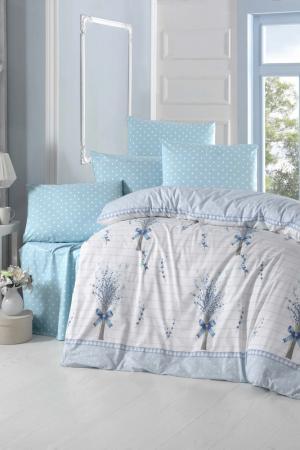 Single Quilt Cover Set Victoria. Цвет: white, blue, grey
