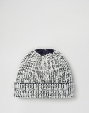 Hat Attack Шапка-бини в полоску с эффектом тени. Цвет: темно-синий