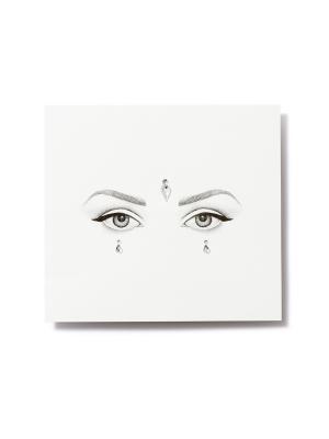 Клеящиеся кристаллы для лица Crystalzzz Drops in Silver Miami Tattoos. Цвет: серебристый