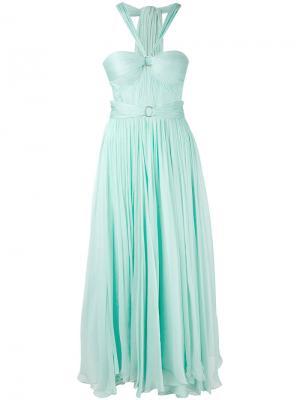 Плиссированное платье Maria Lucia Hohan. Цвет: зелёный