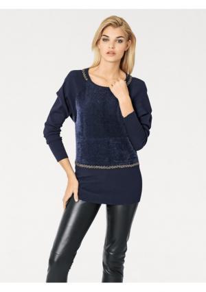 Пуловер Rick Cardona. Цвет: темно-синий