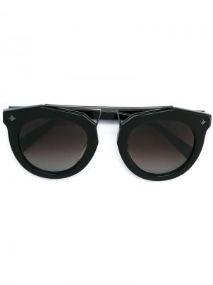 Солнцезащитные очки-авиаторы MCM. Цвет: чёрный