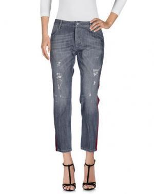 Джинсовые брюки MAURIZIO MASSIMINO. Цвет: серый