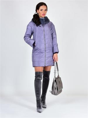 Пальто GRAFINIA. Цвет: сиреневый