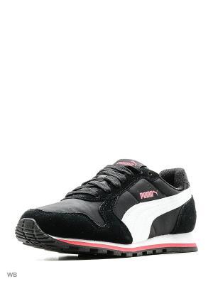 Кроссовки ST Runner NL PUMA. Цвет: черный, белый, лиловый