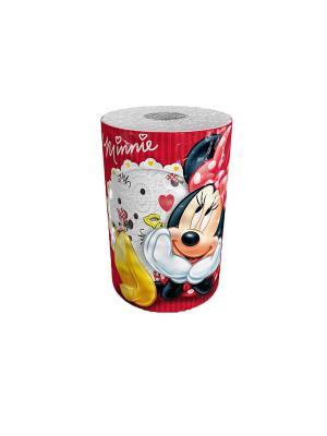 Полотенце кухонное Minny Mouse 3-х слойное, 1 рулон, 150 листов, 34.5 м World Cart. Цвет: белый