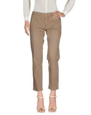 Повседневные брюки MONOCROM. Цвет: верблюжий