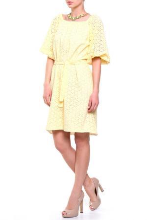 Платье PRIVATE SUN. Цвет: желтый