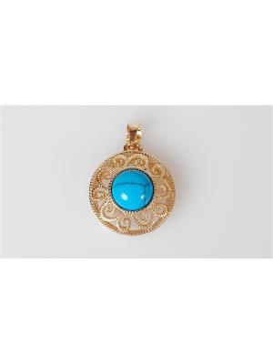 Кулон бирюза восточное солнце Lotus Jewelry. Цвет: синий