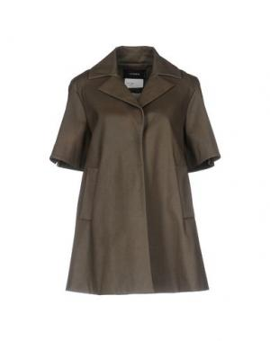 Легкое пальто CIVIDINI. Цвет: хаки