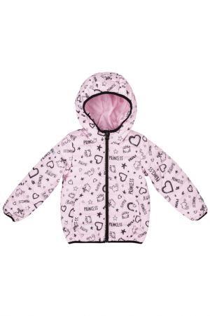 Куртка PlayToday. Цвет: розовый, коричневый