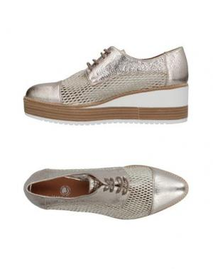 Обувь на шнурках JANET SPORT. Цвет: платиновый