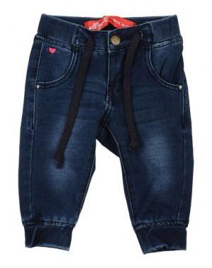 Джинсовые брюки ALLIGALLI. Цвет: синий