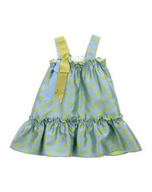Платье MIMISOL. Цвет: бирюзовый